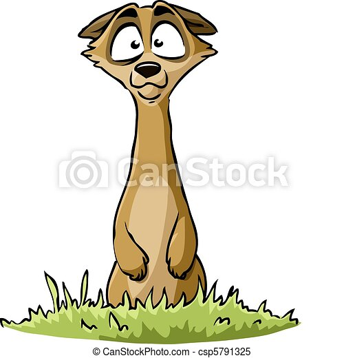 meerkat on a white background vector illustration clipart vector rh canstockphoto com meerkat clipart free Elephant Clip Art
