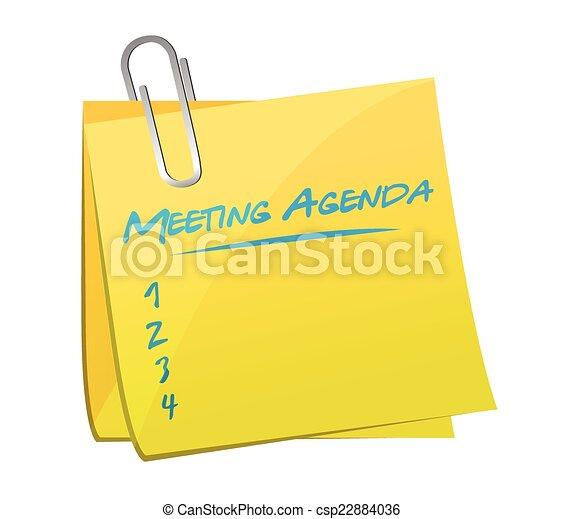 meeting agenda memo illustration design - csp22884036