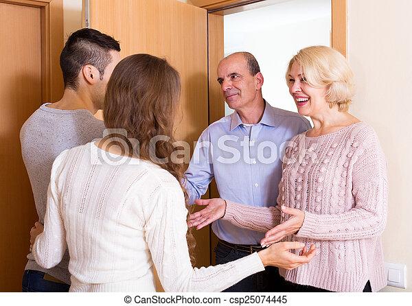 meeting at the door - csp25074445