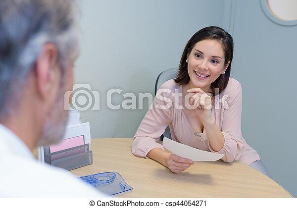 meeting between two people - csp44054271