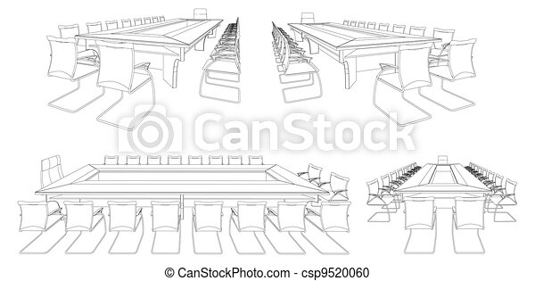 Meeting Conference Table - csp9520060