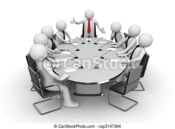 Meeting in conference room - csp3147364