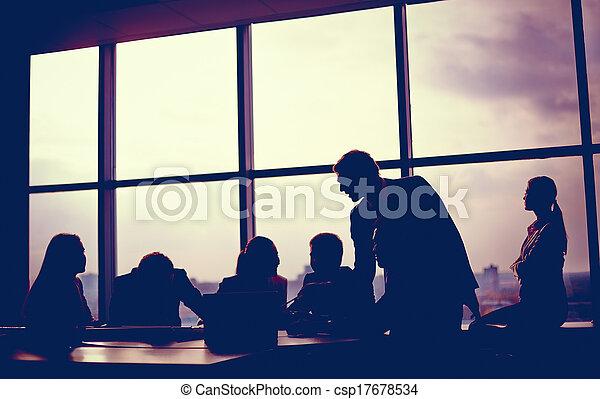 Meeting in office - csp17678534