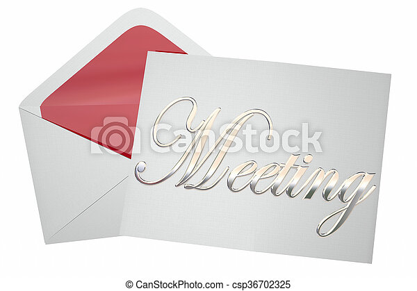 Meeting invitation letter envelope discussion word 3d illustration meeting invitation letter envelope discussion word 3d illustration stopboris Images