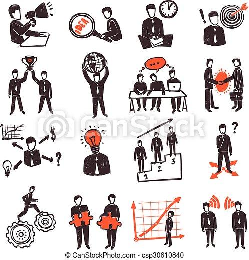 Meeting People Icon Set - csp30610840