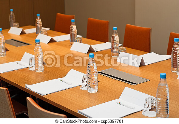 Meeting room ready for a businessmen, work places - csp5397701