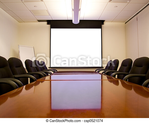 Meeting Room with Screen - csp0521074