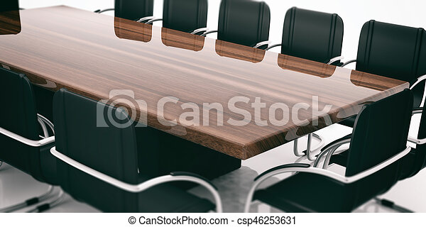 Drawings Of Meeting Table And Chairs D Illustration Meeting - Conference room table and chairs clip art
