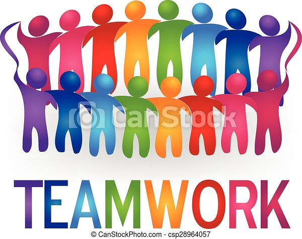 Meeting teamwork people logo vector - csp28964057
