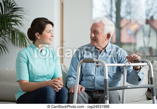 Meeting with nurse - csp24531988
