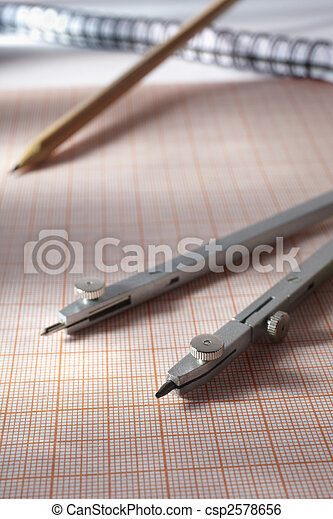 meetkunde, gereedschap - csp2578656