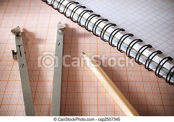 meetkunde, gereedschap - csp2507345