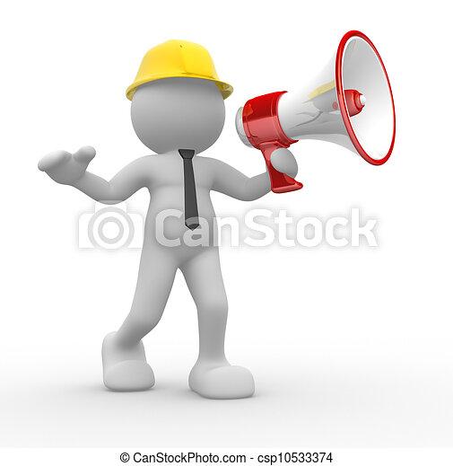 megáfono - csp10533374