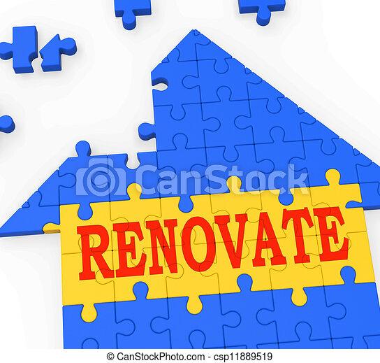 megújít, épület, megjavít, készít, erőforrások - csp11889519