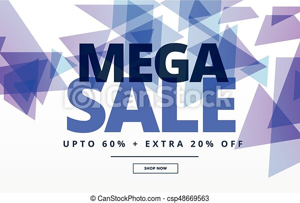 mega sale abstract banner design template - csp48669563