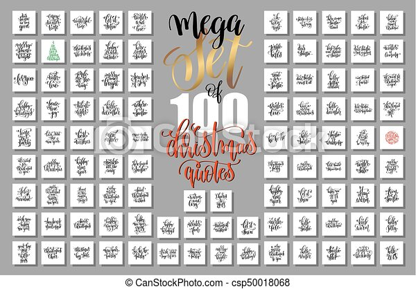 mega set of 100 christmas lettering quotes to new year - csp50018068