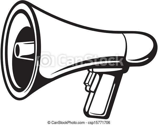 megaphone bullhorn vector clipart search illustration drawings rh canstockphoto com megaphone vector icon megaphone vector file