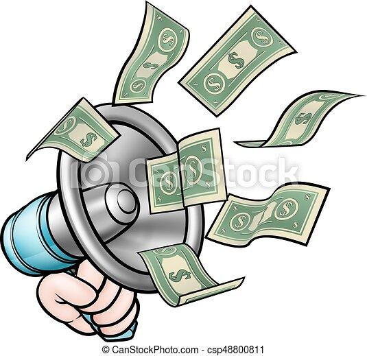 Megaphone Money Concept - csp48800811