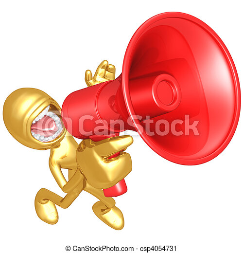 Megaphone Screaming - csp4054731