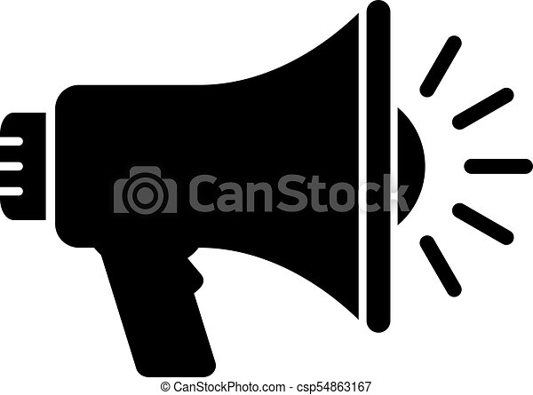 megaphone vector icon isolated on white background clip art vector rh canstockphoto ie megaphone vector icon megaphone vector icon