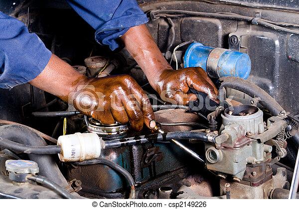 megjavítás, szerelő, jármű - csp2149226
