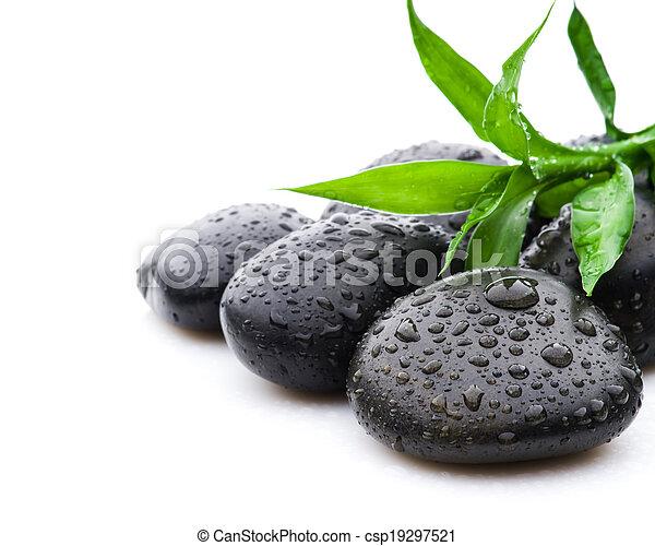 megkövez, zen, fekete, ásványvízforrás, egészségügyi ellátás - csp19297521