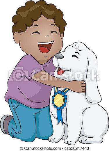 meglio, cane, premio - csp20247443