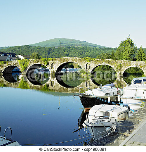 megye, kilkenny, írország, graiguenamanagh - csp4986391