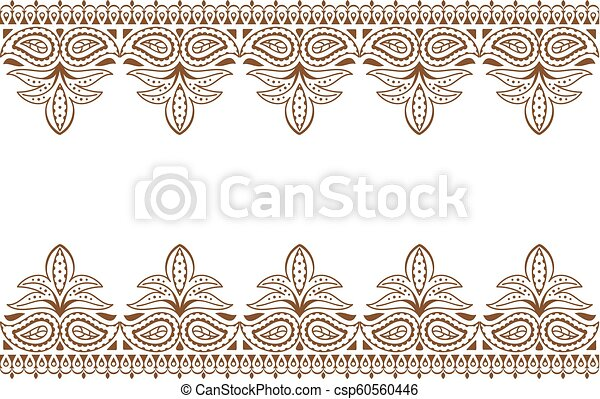 Mehndi Background Indian Embroidery Design Wuth Henna Ornament