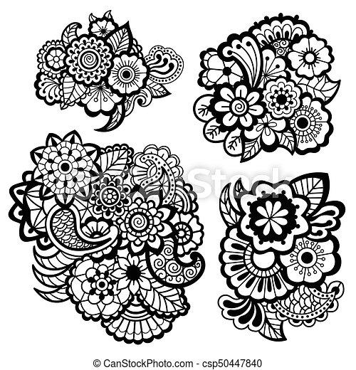 Mehndi Design Floral Pattern