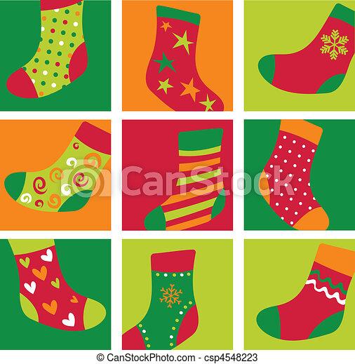meias, cute, natal - csp4548223