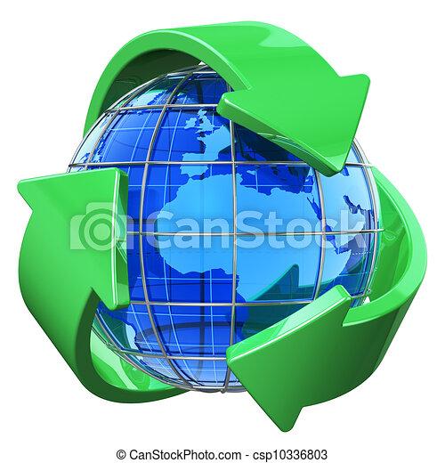 meio ambiente, conceito, reciclagem, proteção - csp10336803
