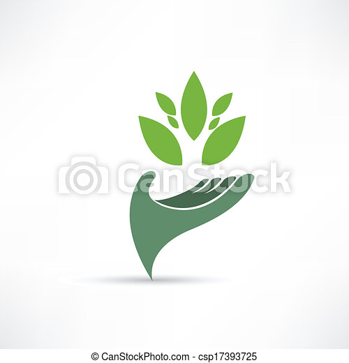 meio ambiente, ecológico, ícone - csp17393725