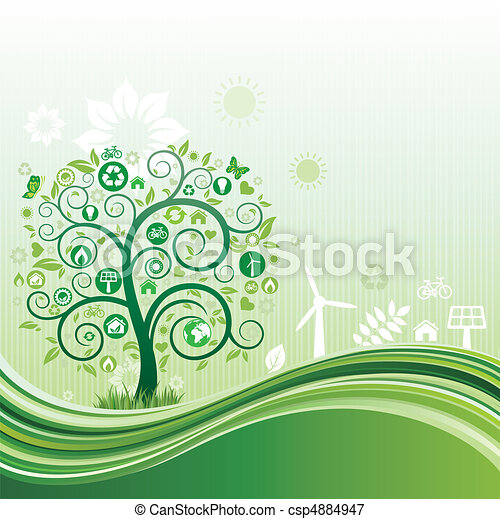 meio ambiente, fundo, natureza - csp4884947