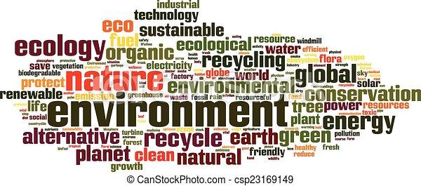 meio ambiente, palavra, nuvem - csp23169149