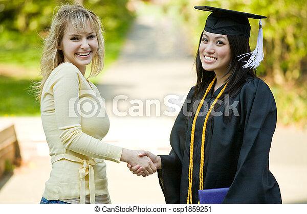 meisje, afgestudeerd - csp1859251
