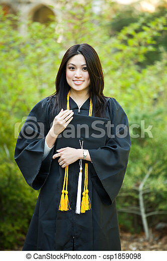 meisje, afgestudeerd - csp1859098