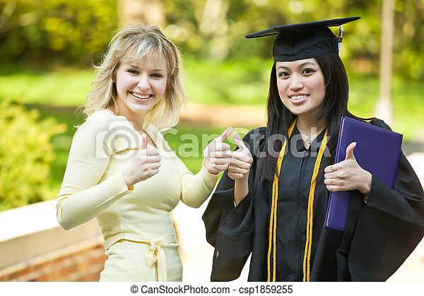 meisje, afgestudeerd - csp1859255