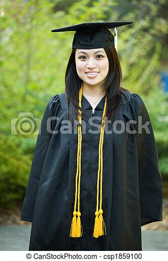 meisje, afgestudeerd - csp1859100