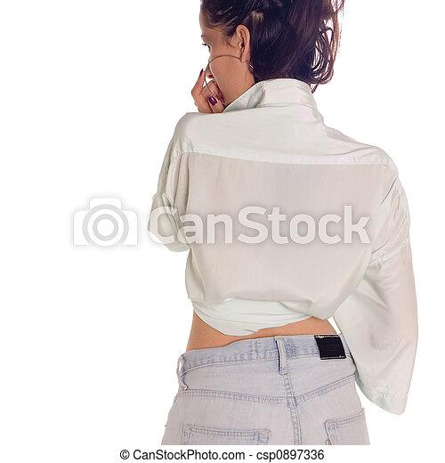 meisje, back - csp0897336