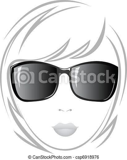 meisje, black , bril - csp6918976