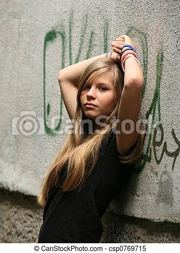 meisje, -, tiener - csp0769715