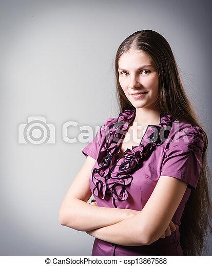 meisje, vrolijke  - csp13867588