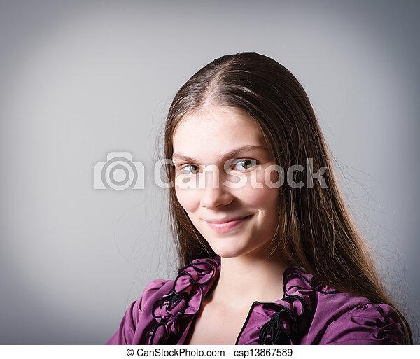 meisje, vrolijke  - csp13867589