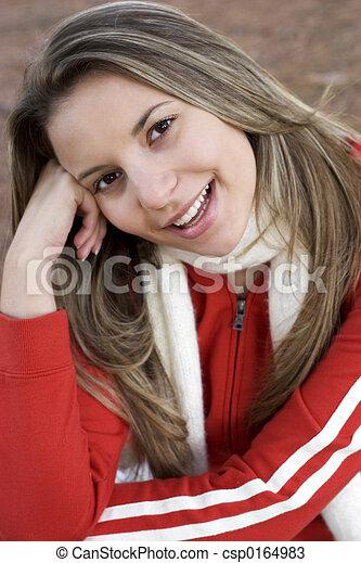 meisje, vrolijke  - csp0164983