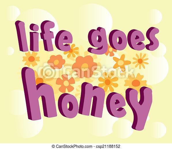 mel, texto, vida, vai, 3d - csp21188152