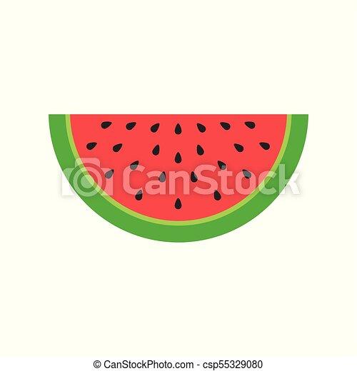 Melancia Fruta Desenho Vetorial Coloridos Sobre Ilustracao