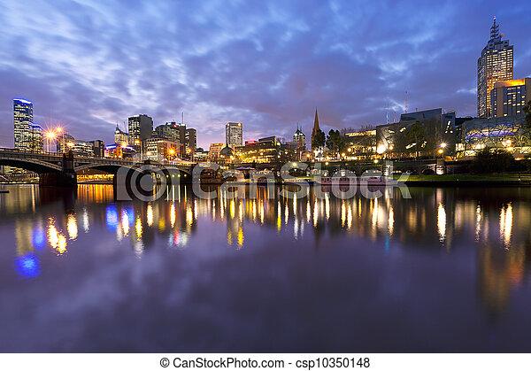 Melbourne australia - csp10350148