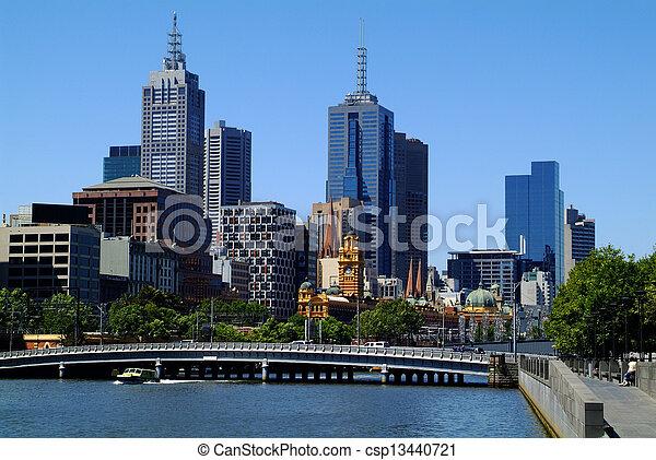melbourne, australia. - csp13440721