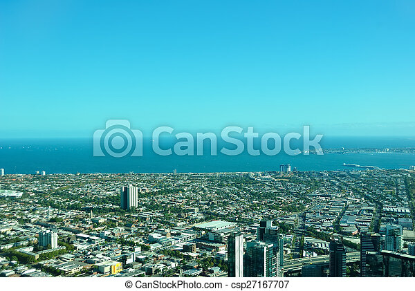 Vista aérea de Melbourne - csp27167707